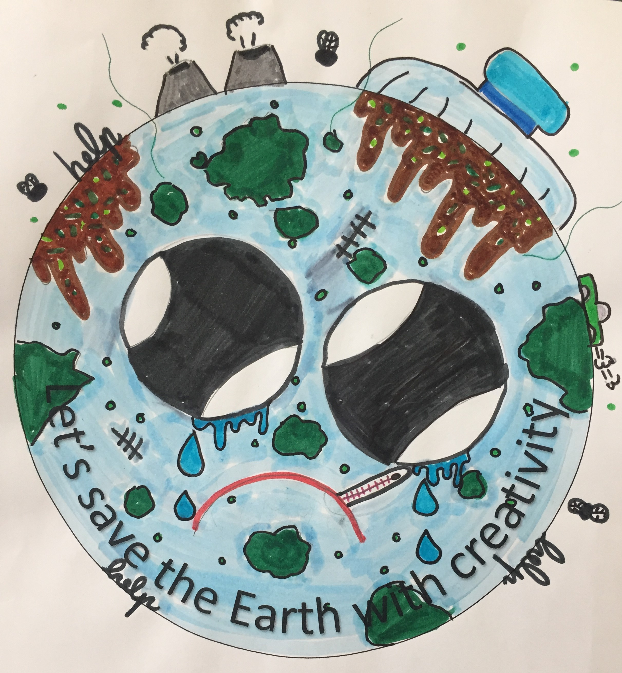 """Projeto """"Let's save the Earth with creativity"""""""